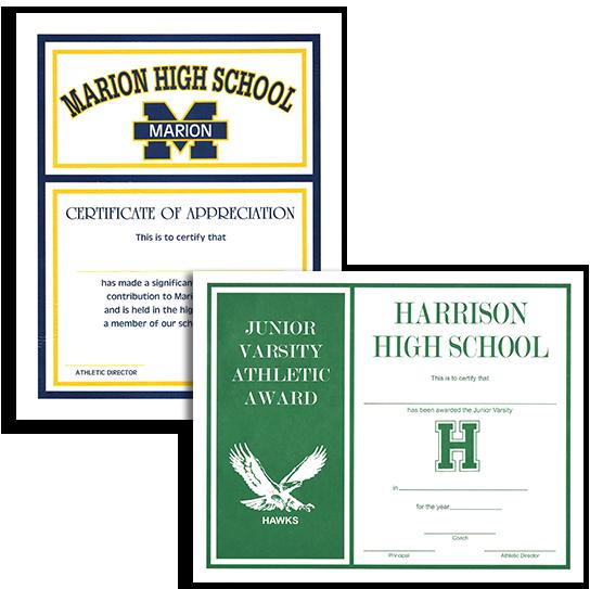 custom school award certificates