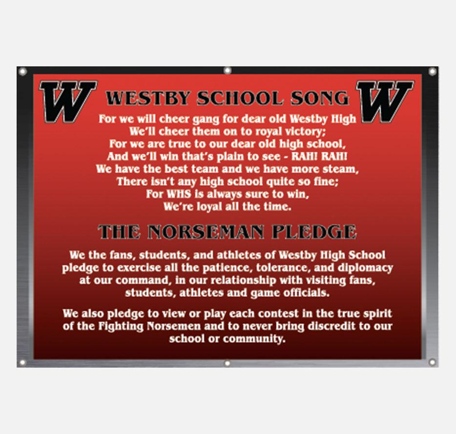 High school song lyrics and pledge