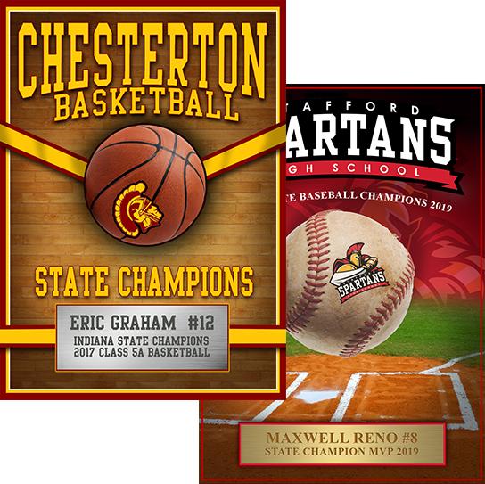 school sport award plaques